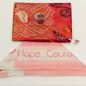 Accessories - Breast Cancer Awareness Month bundle 2 scarf 1 pin